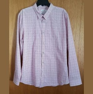 Calvin Klein Button Down Shirt XL 17-17 1/2 Neck